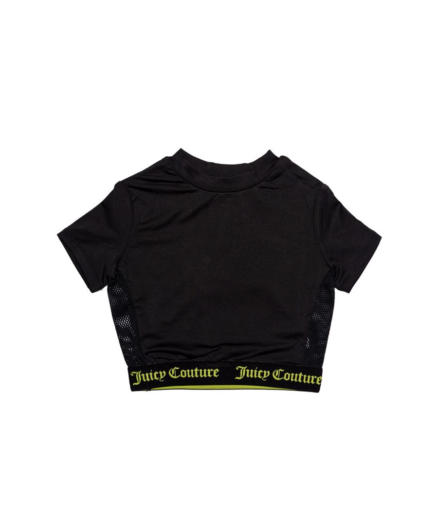 Image for Girl's Juicy Couture Infant Juicy Swim T-Shirt in Black