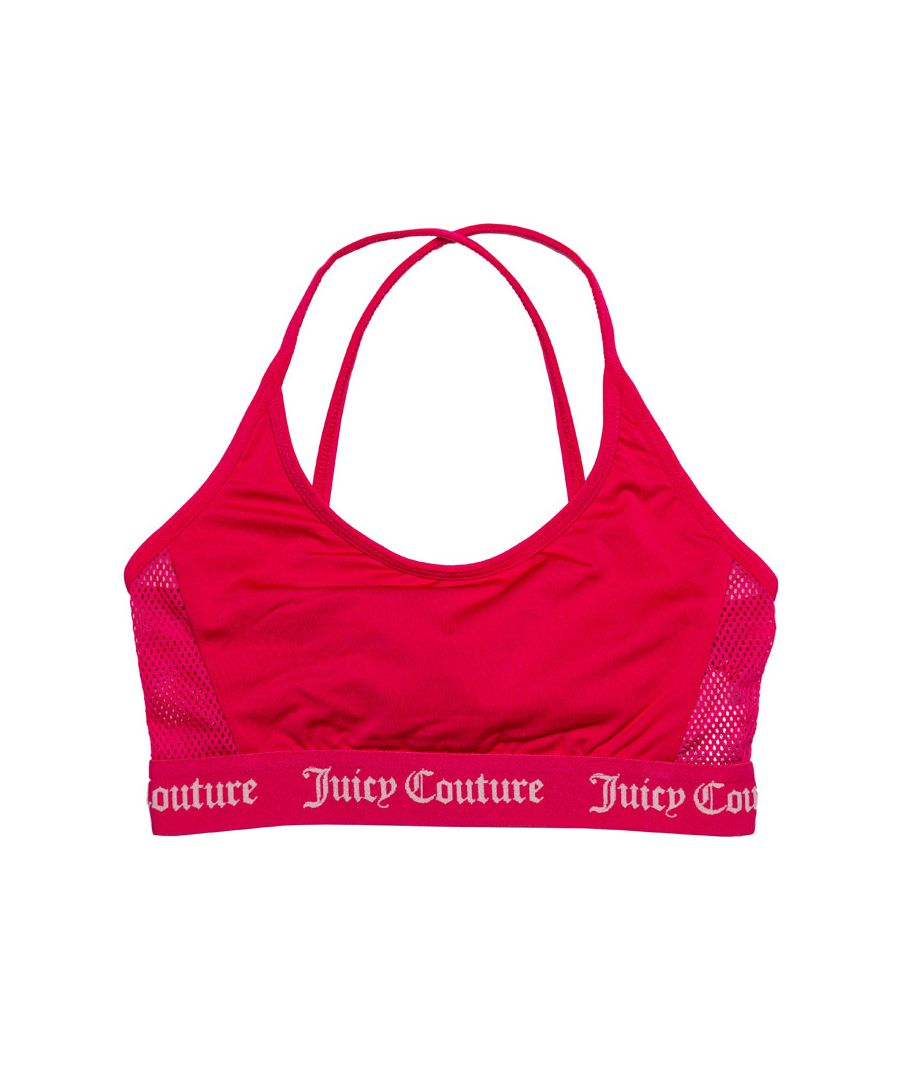 Image for Girl's Juicy Couture Junior Juicy Swim Bikini Top in Rose