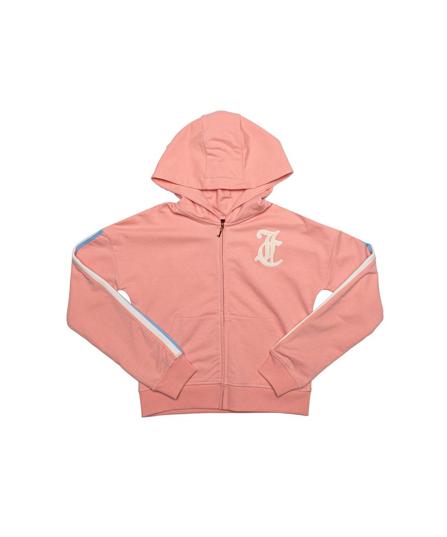 Image for Girl's Juicy Couture Junior Gothic Script Hoody in Peach