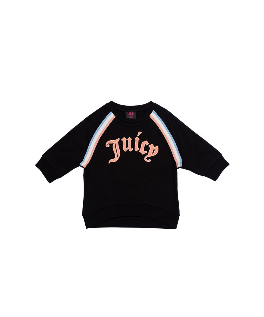 Image for Girl's Juicy Couture Junior Gothic Script Sweat in Black