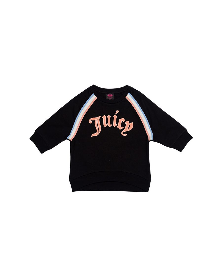 Image for Girl's Juicy Couture Infant Gothic Script Sweat in Black