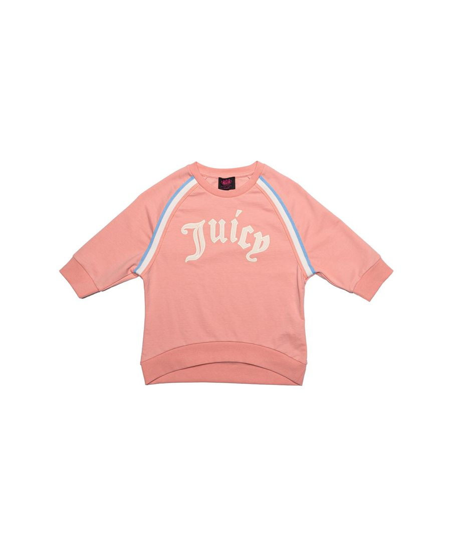 Image for Girl's Juicy Couture Junior Gothic Script Sweat in Peach