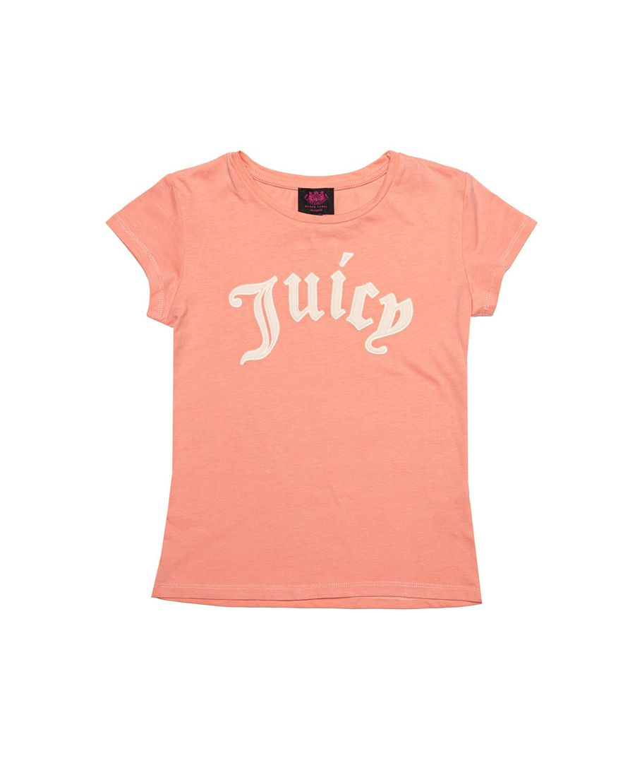 Image for Girl's Juicy Couture Junior Gothic Script T-Shirt in Peach