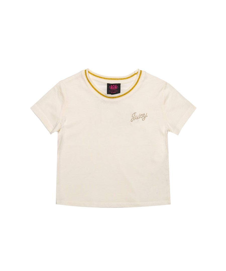 Image for Girl's Juicy Couture Junior Berry T-Shirt in Off White