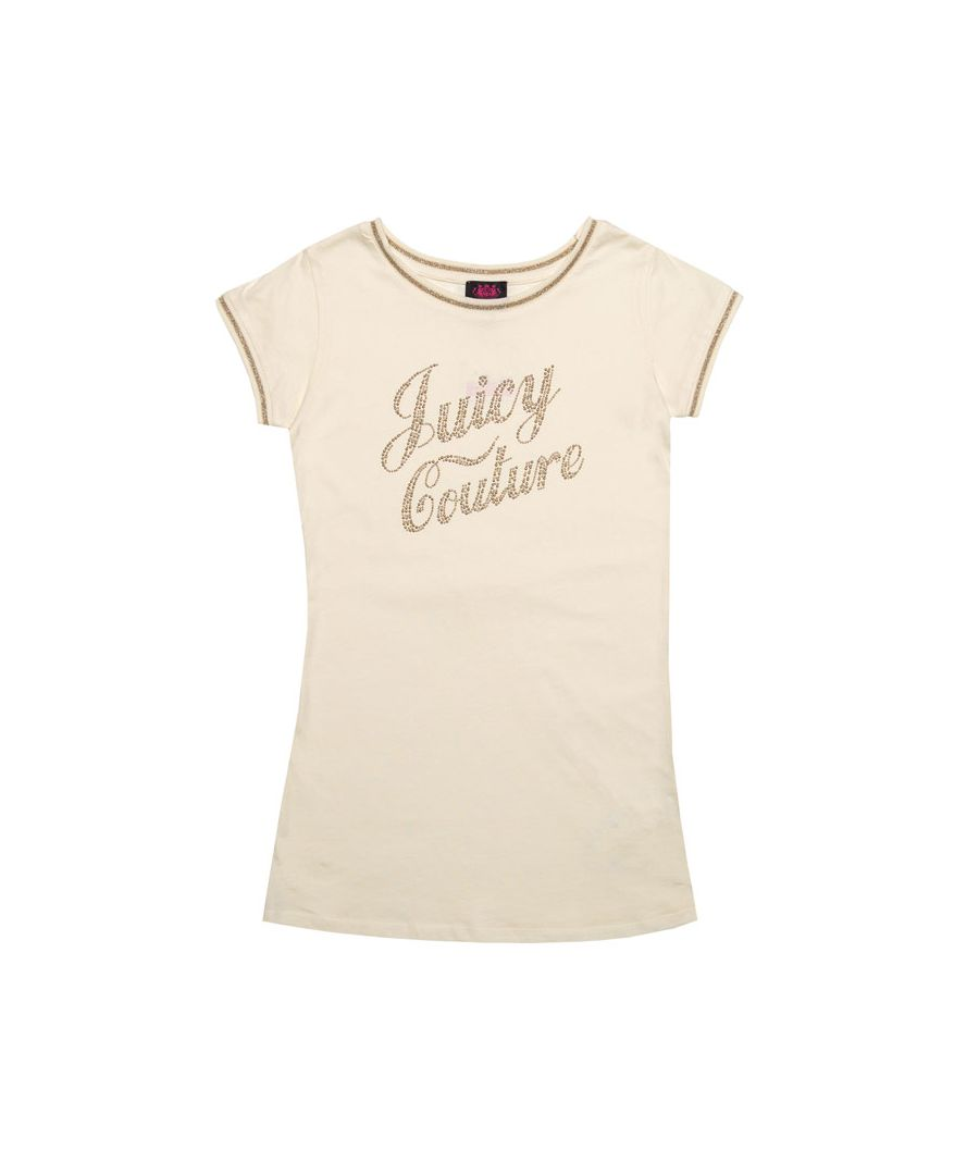 Image for Girl's Juicy Couture Junior Berry Tea Dress in Off White
