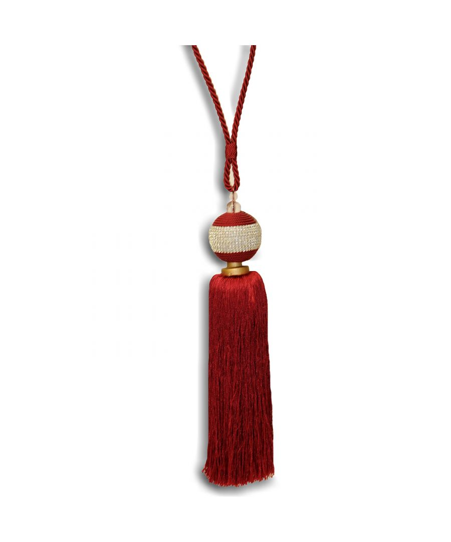 Image for Jewel Tie Back Burgundy