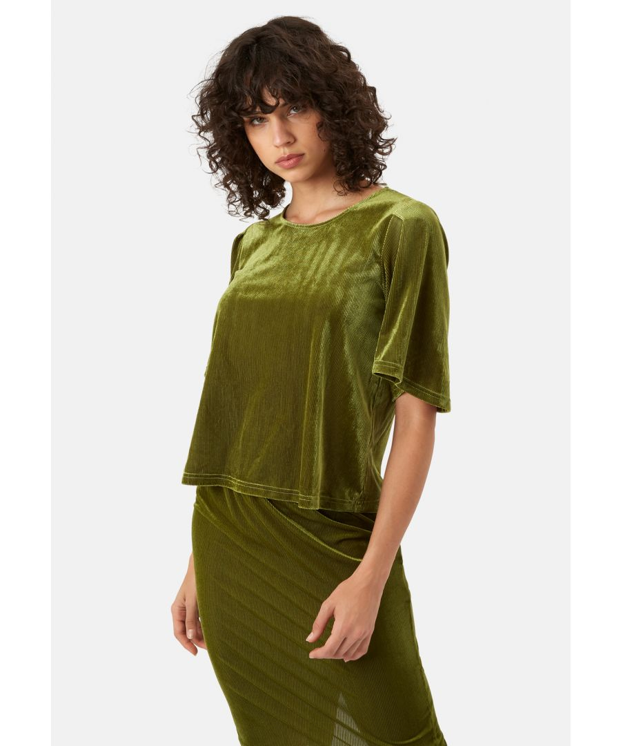 Image for Whisper Velvet Top in Green