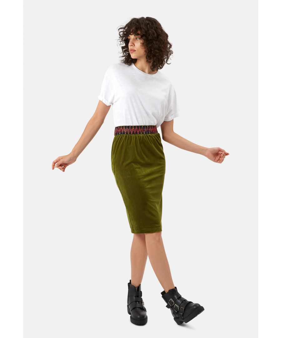Image for JIC Pencil Skirt in Green