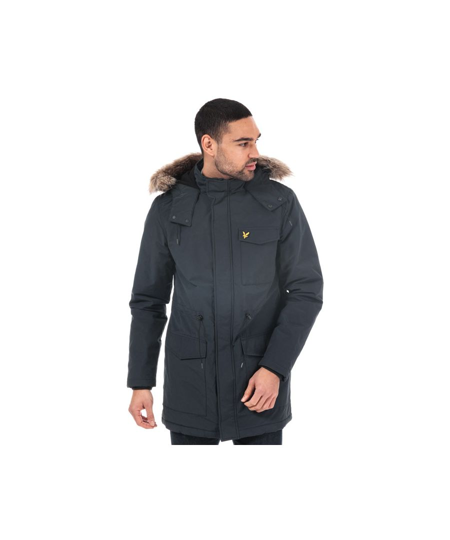 Image for Men's Lyle And Scott Winterweight Microfleece Lined Parka in Navy