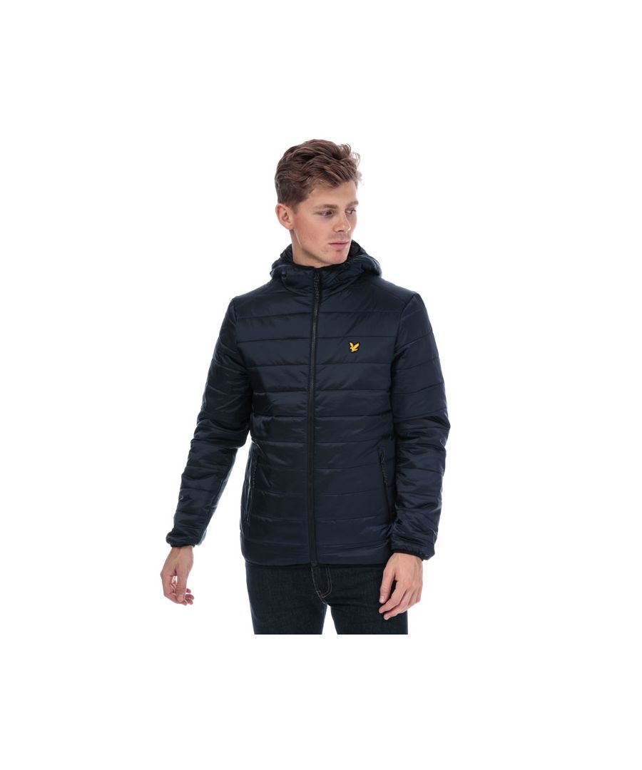 Image for Men's Lyle And Scott Sport Cooke Hooded Jacket in Navy