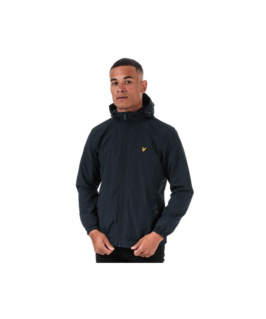Image for Men's Lyle And Scott Microfleece Lined Zip Through Jacket in Navy