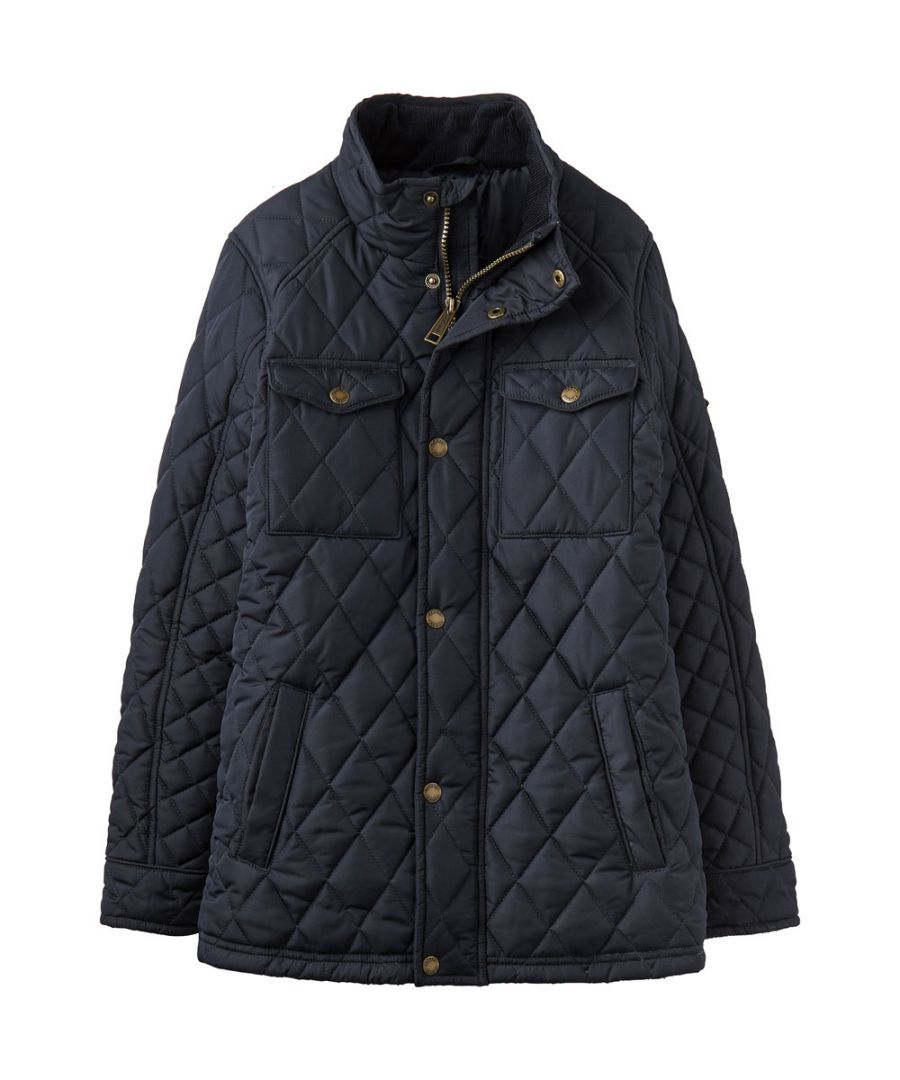 Image for Joules Boys Stafford Classic Quilted Full Zip Biker-Style Jacket Coat