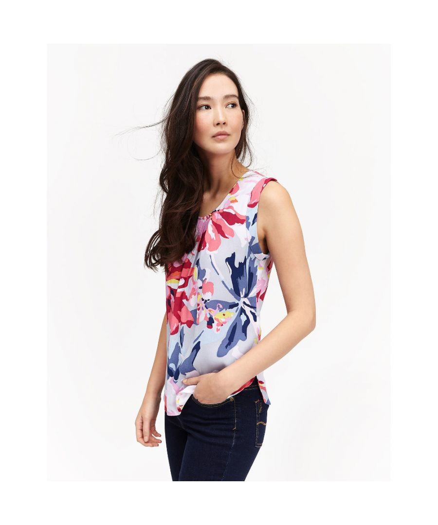 Image for Joules Womens/Ladies Alyse Printed Sleeveless Flattering T Shirt Top