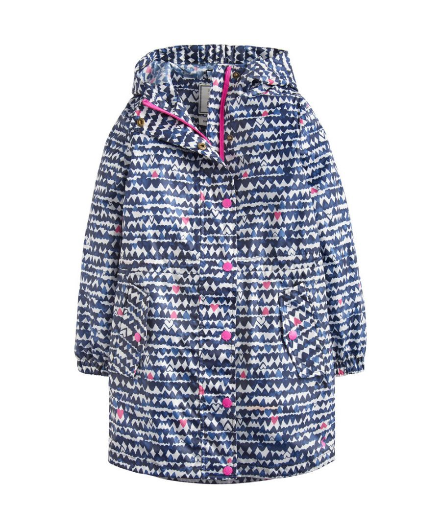 Image for Joules Girls Z ODR Golightly Lightweight Waterproof Parka Coat Jacket
