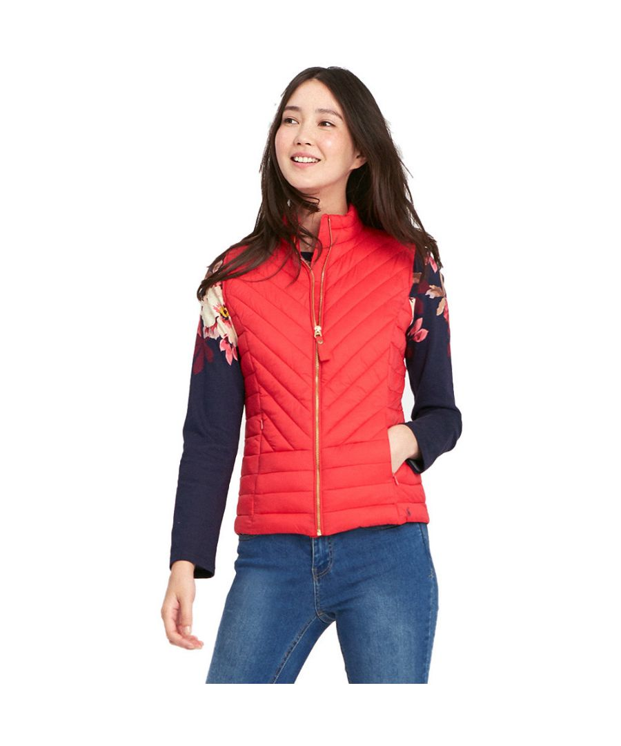 Image for Joules Womens/Ladies Brindley Chevron Quilted Warm Bodywarmer Gilet