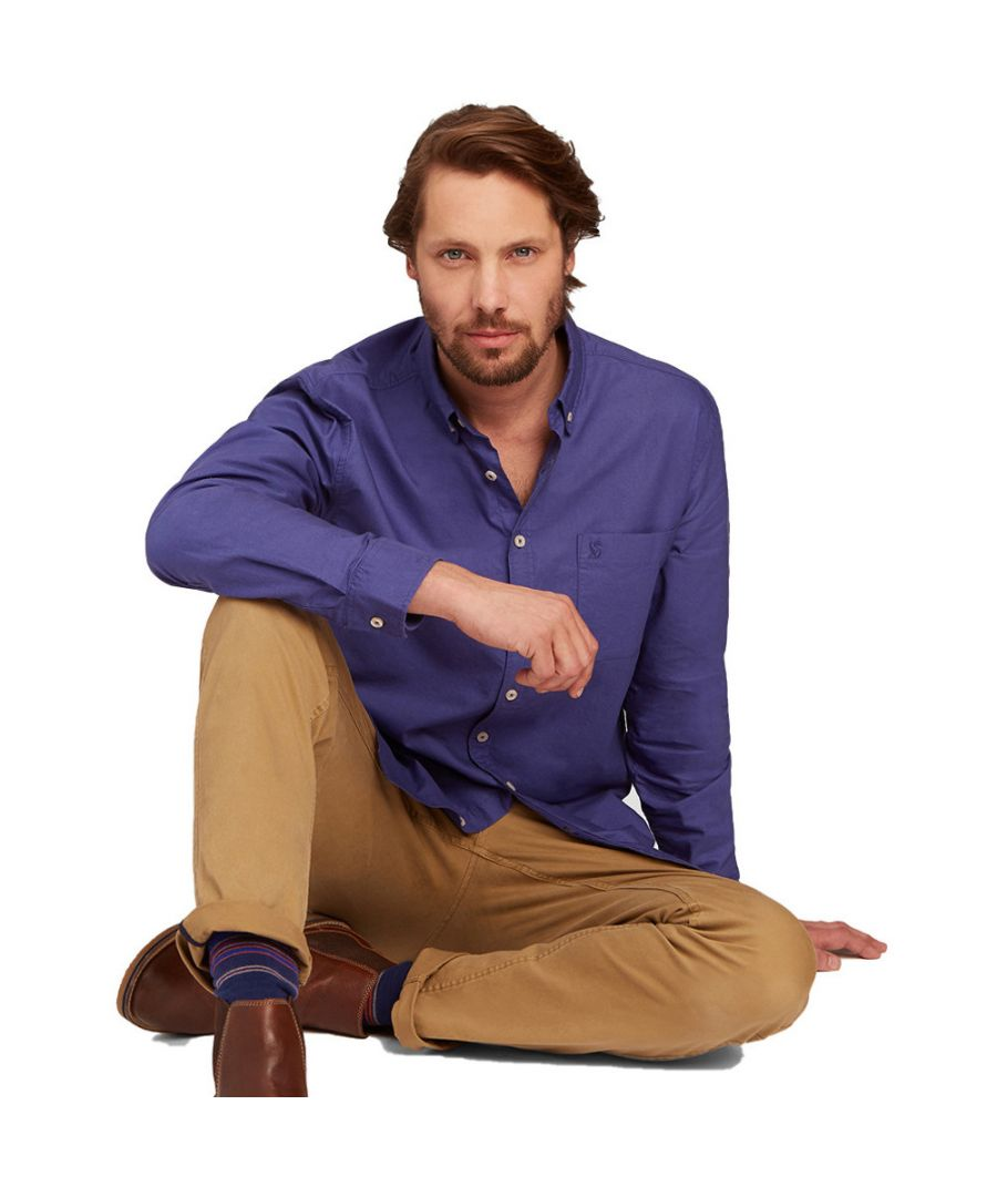 Image for Joules Mens Laundered Long Sleeve Classic Fit Oxford Cotton Shirt