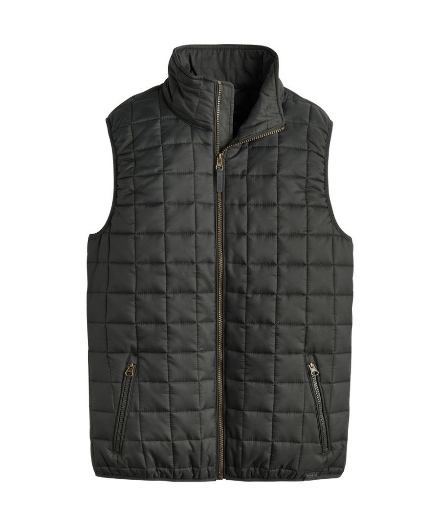 Image for Joules Mens Ridgeway Lightweight Quilted Zip Up Gilet Bodywarmer