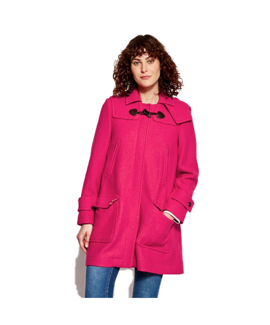 Image for Joules Womens Woolsdale Double Faced Wool Blend Duffle Coat