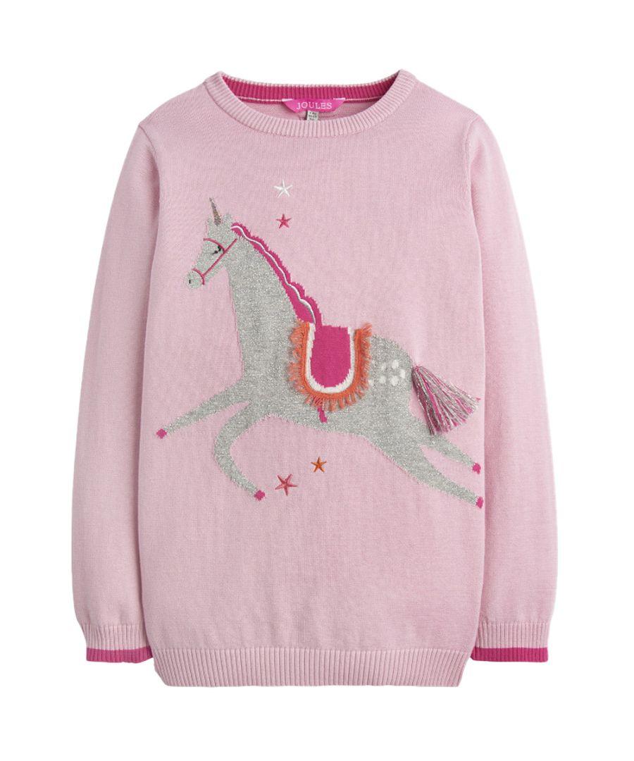Image for Joules Girls Meryl Artwork Antarsia Cotton Mini Me Jumper