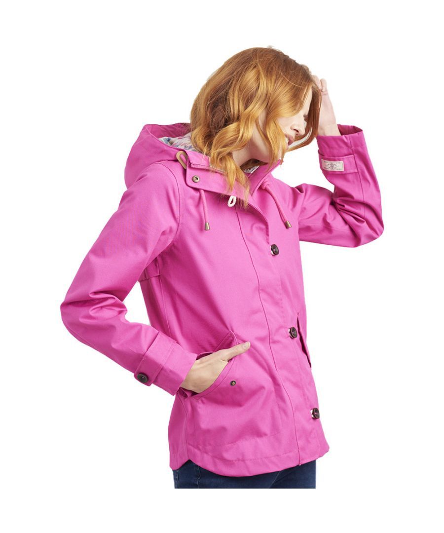Image for Joules Womens Coast Striped Breathable Waterproof Coat