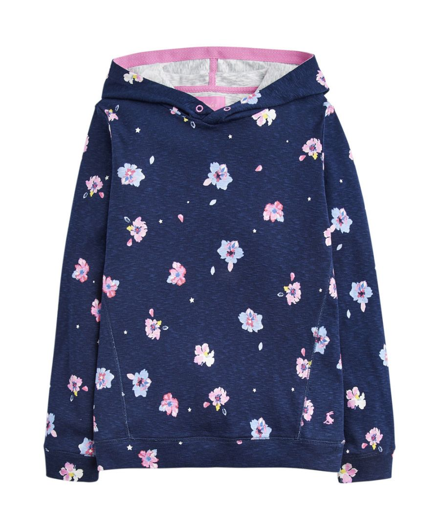 Image for Joules Girls Marlston Relaxed Cotton Printed Hooded Sweater