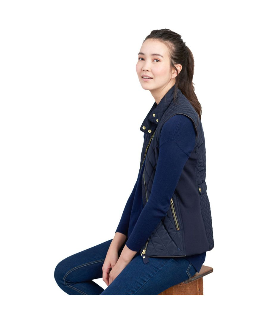 Image for Joules Womens Brookdale Warm Funnel Neck Body Warmer Gilet