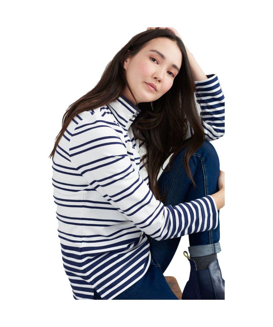 Image for Joules Womens Saunton Saltwashed Funnel Sweatshirt Jumper