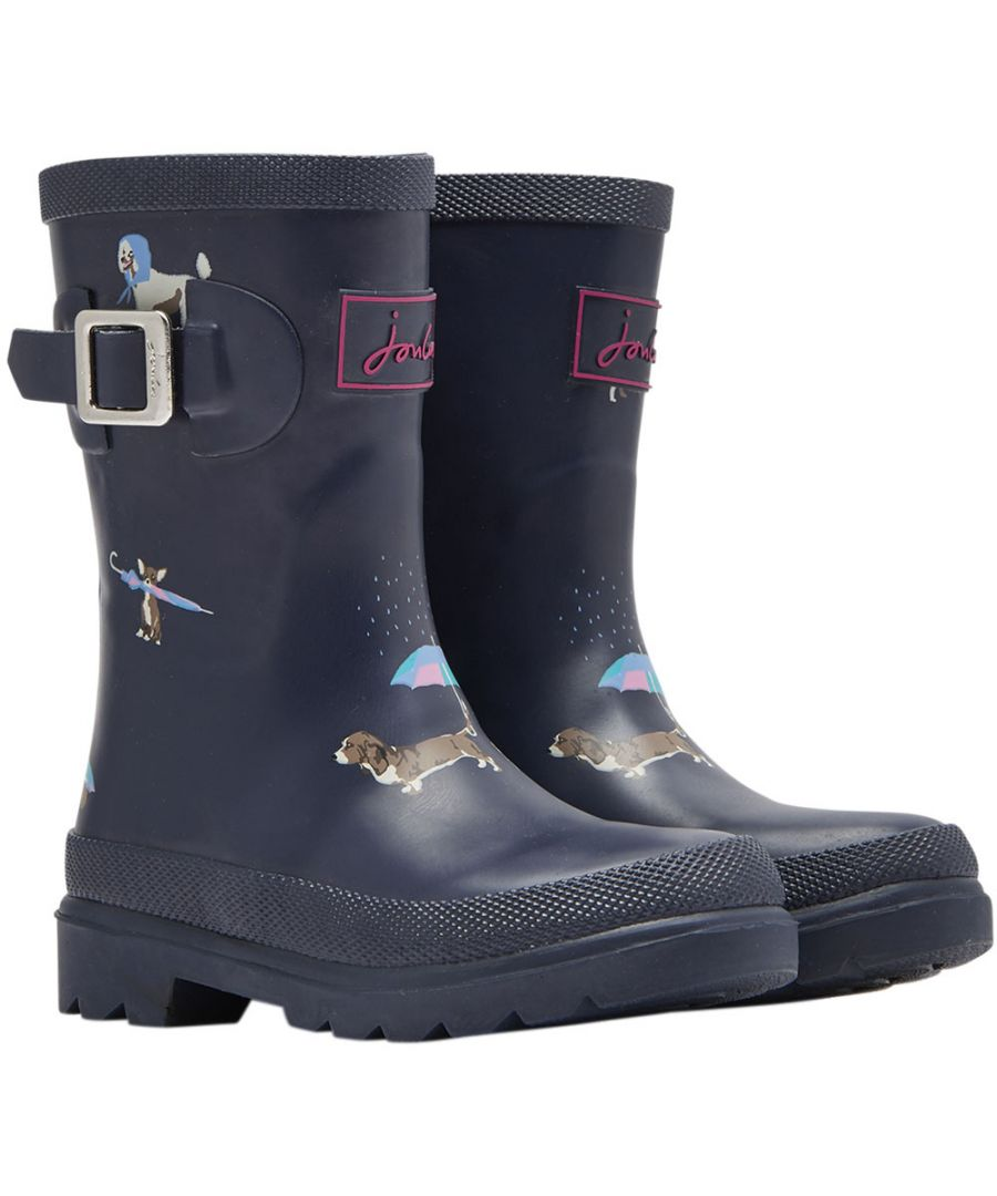 Image for Joules Girls Rubber Print Mid Calf Height Wellington Boots