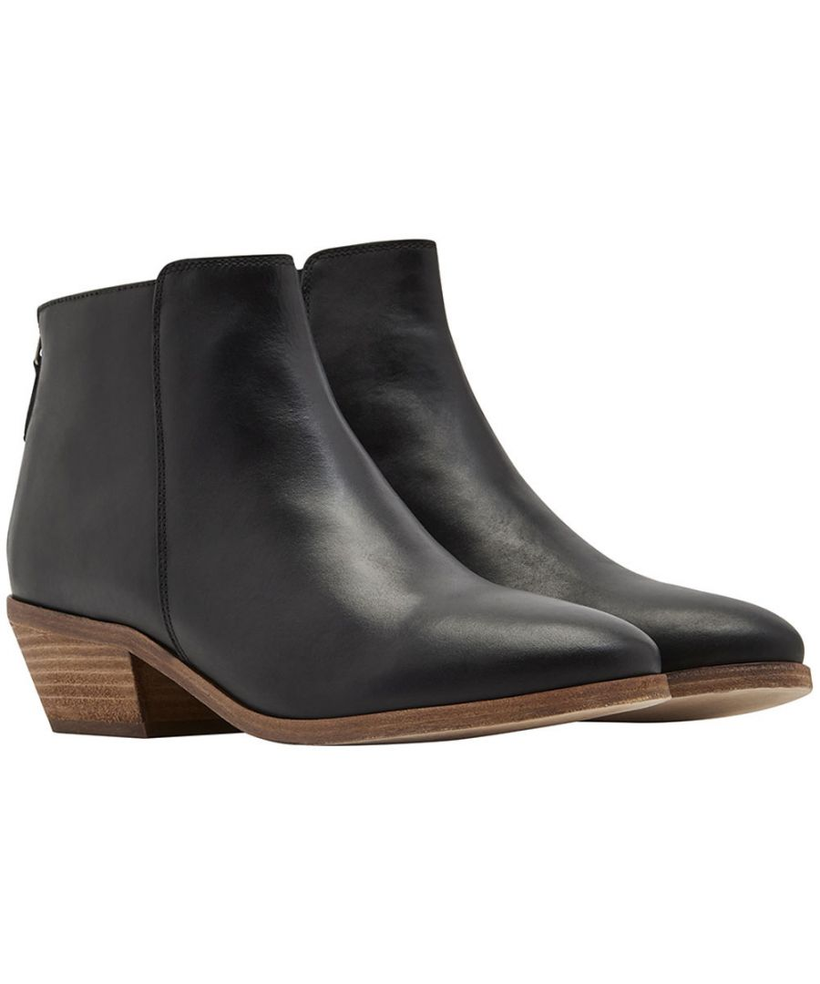 Image for Joules Womens Langham Handcrafted Leather Zip Up Ankle Boots