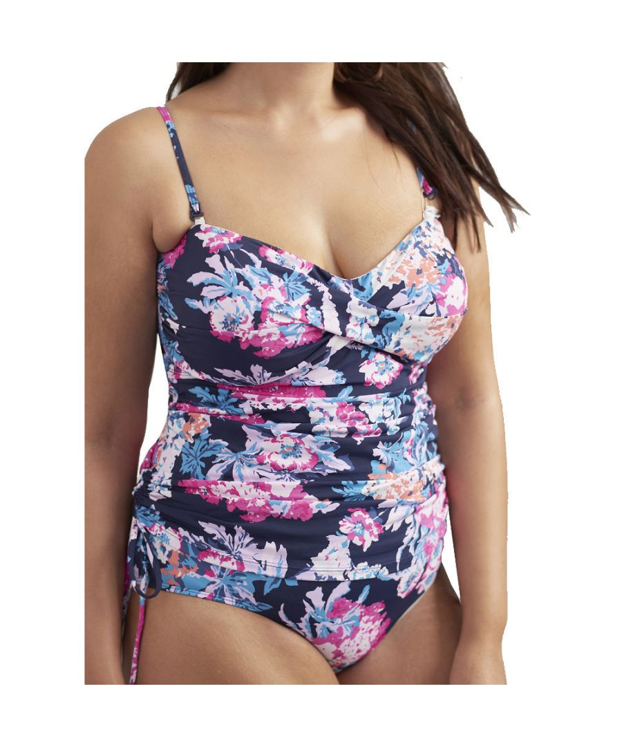 Image for Joules Womens Delphine Two Strap One Piece Ruching Swimsuit