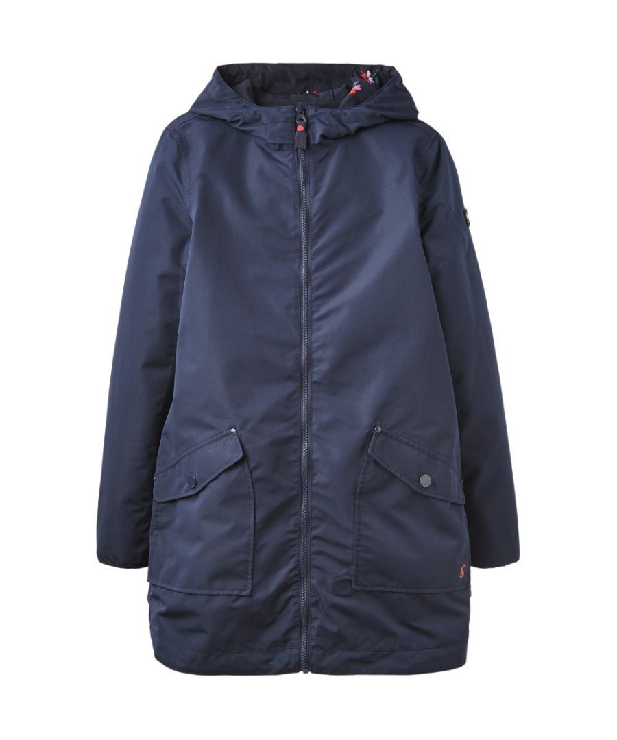 Image for Joules Womens Dockland Long Length Hooded Reversible Parka