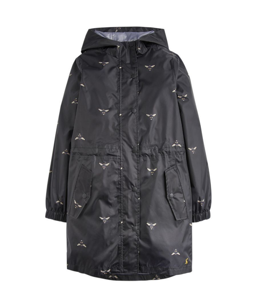 Image for Joules Girls Golightly Long Length Hooded Waterproof Coat