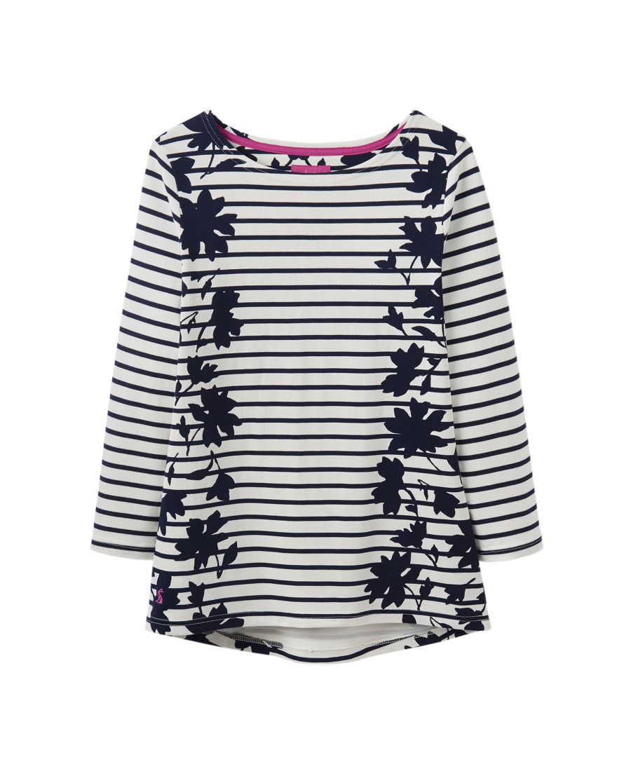 Image for Joules Womens Harbour Printed Long Sleeve Curved Jersey Top