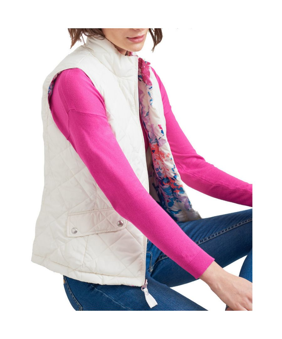Image for Joules Womens Holbrook Reversible Quilted Body Warmer Gilet