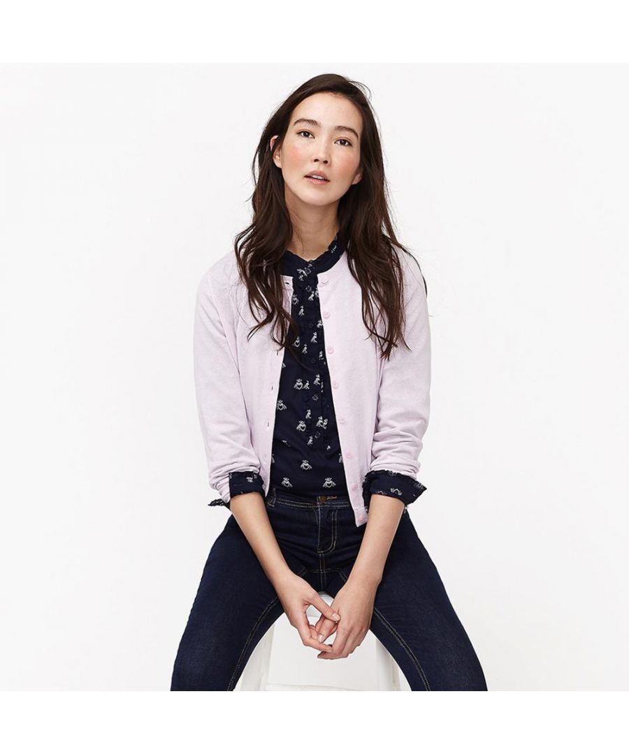 Image for Joules Womens Skye Neat Fitted Button Up Classic Cardigan