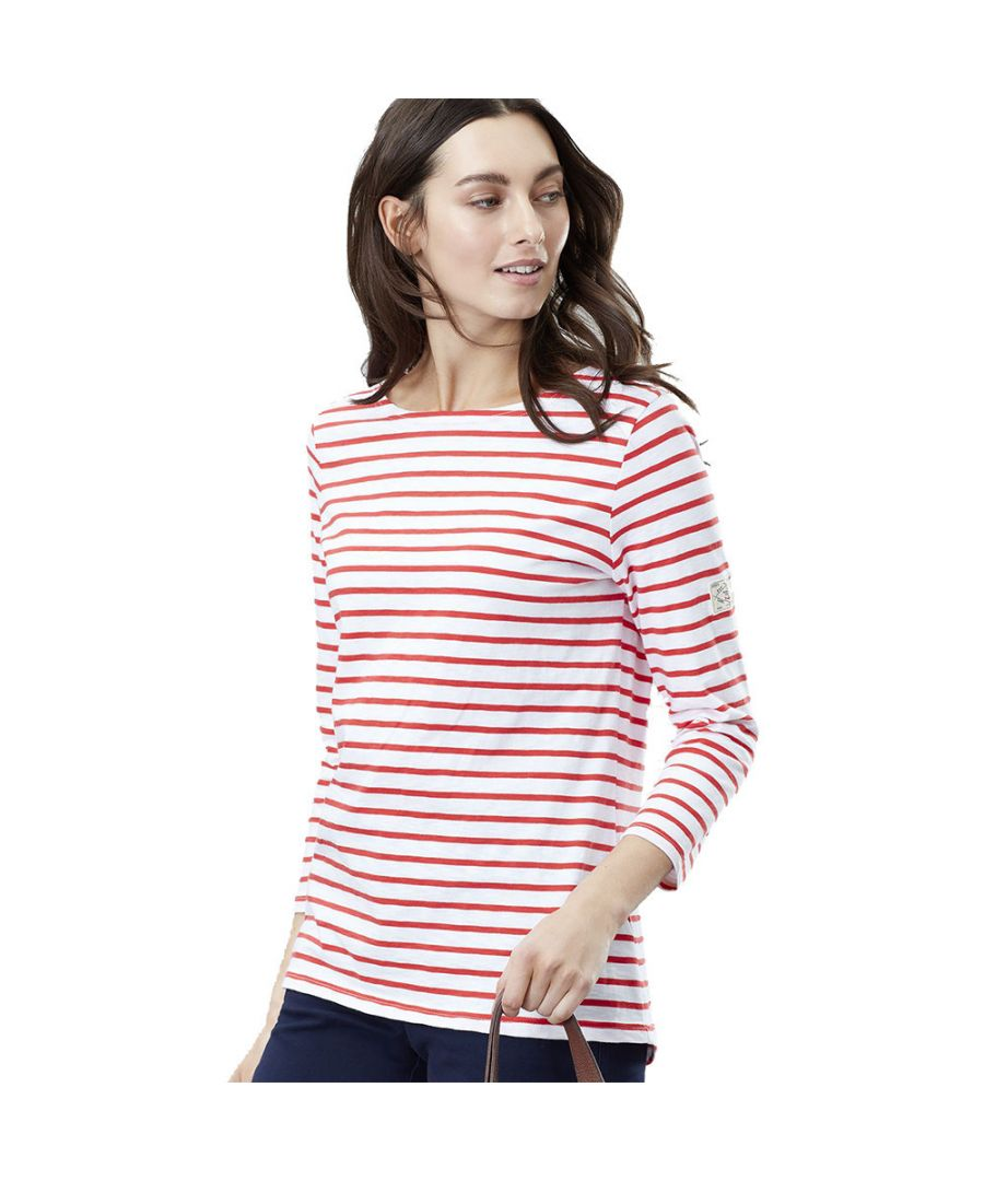 Image for Joules Womens Harbourlight 3/4 Sleeve Lightweight Jersey Top