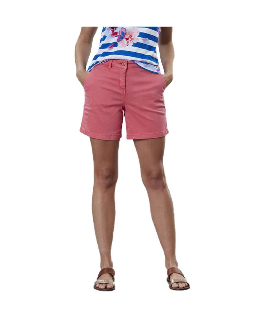 Image for Joules Womens Cruise Mid Length Cotton Chino Summer Shorts