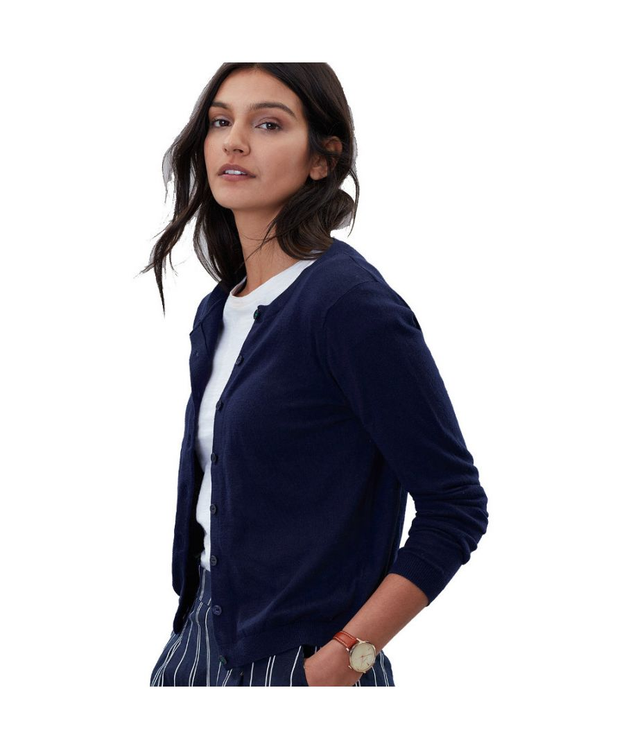 Image for Joules Womens Skye Classic Long Sleeve Button Up Cardigan