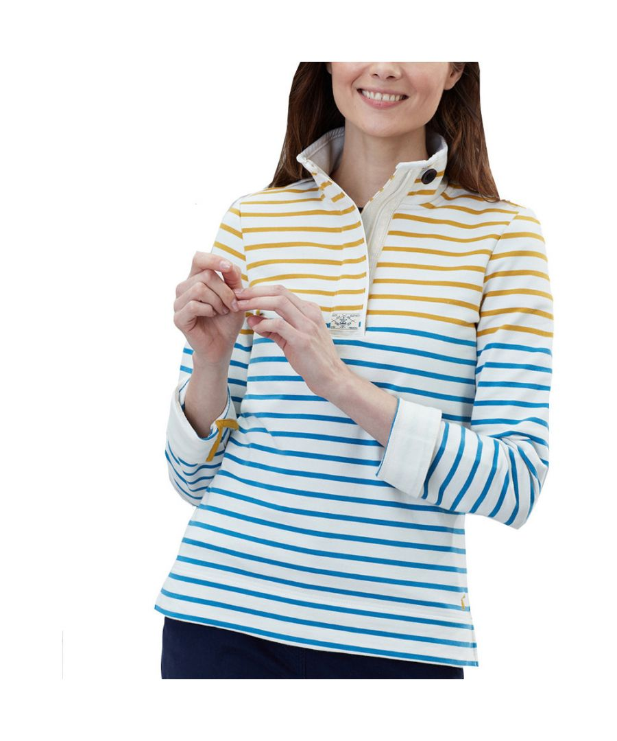 Image for Joules Womens Saunton Half Zip Cotton Funnel Neck Sweater