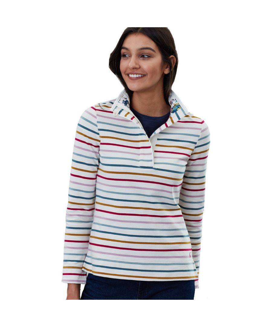 Image for Joules Womens Saunton Half Zip Cotton Funnel Neck Sweater