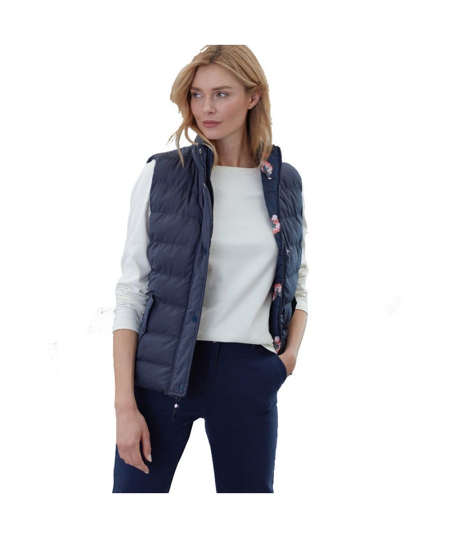 Image for Joules Womens Holbrook Reversible Padded Quilted Bodywarmer