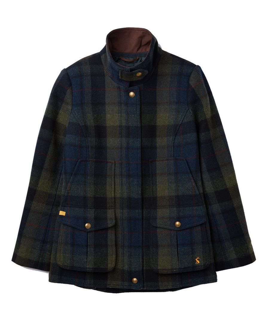 Image for Joules Womens Fieldcoat Herritage Tweed Fitted Country Coat