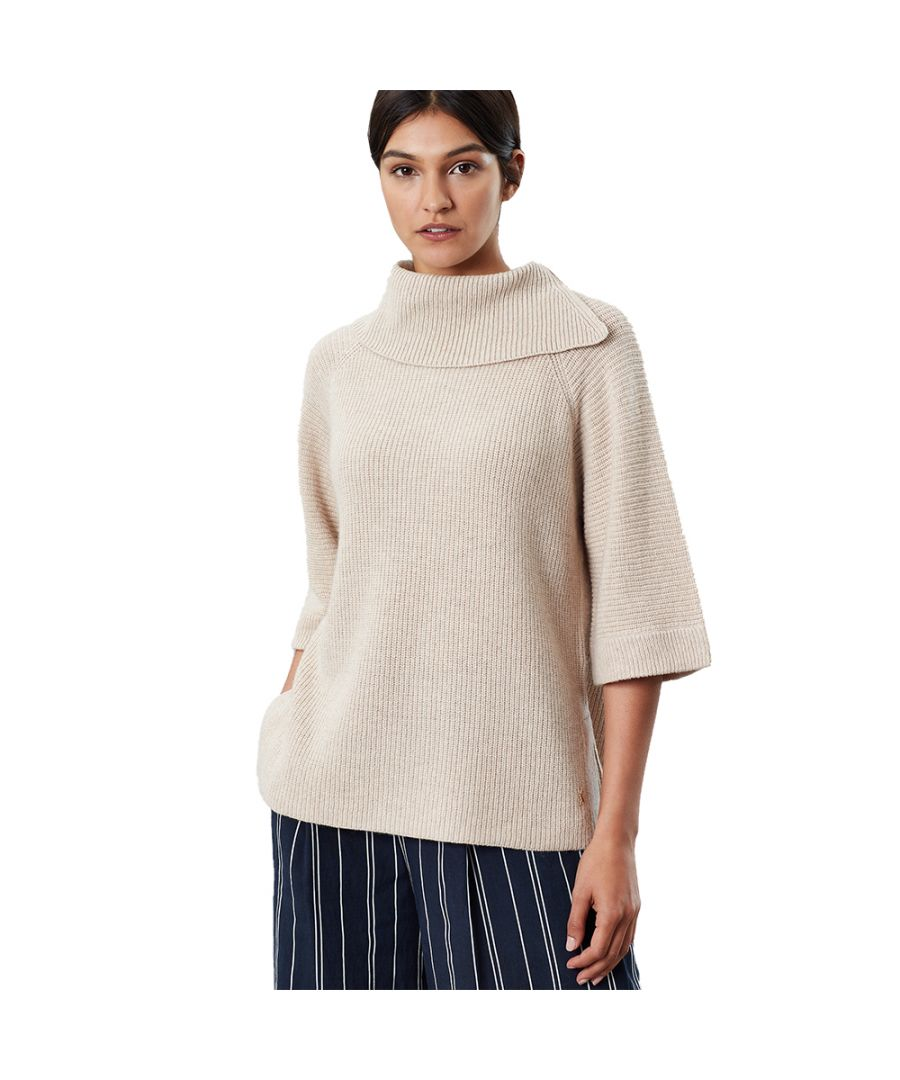 Image for Joules Womens Sarah Poncho Style Super Soft Roll Neck Jumper