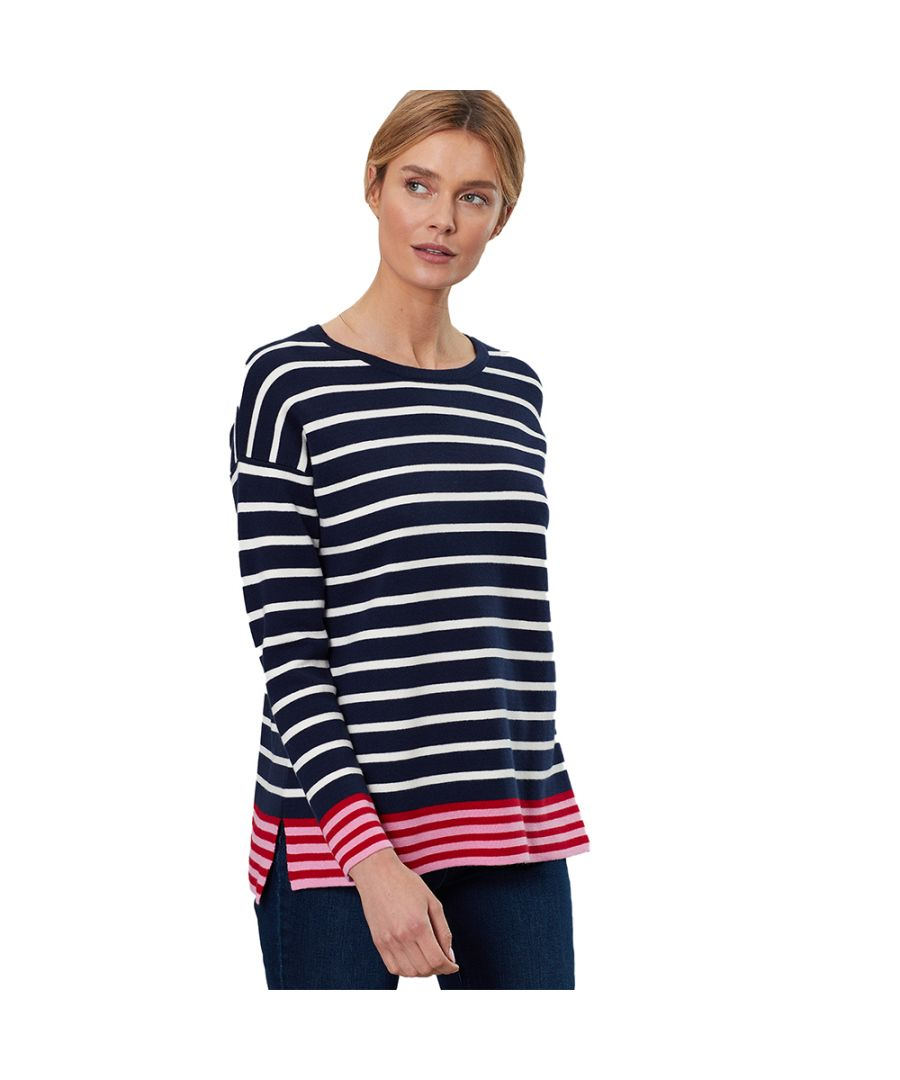 Image for Joules Womens Uma Drop Sleeved Wool Blend Contrast Jumper
