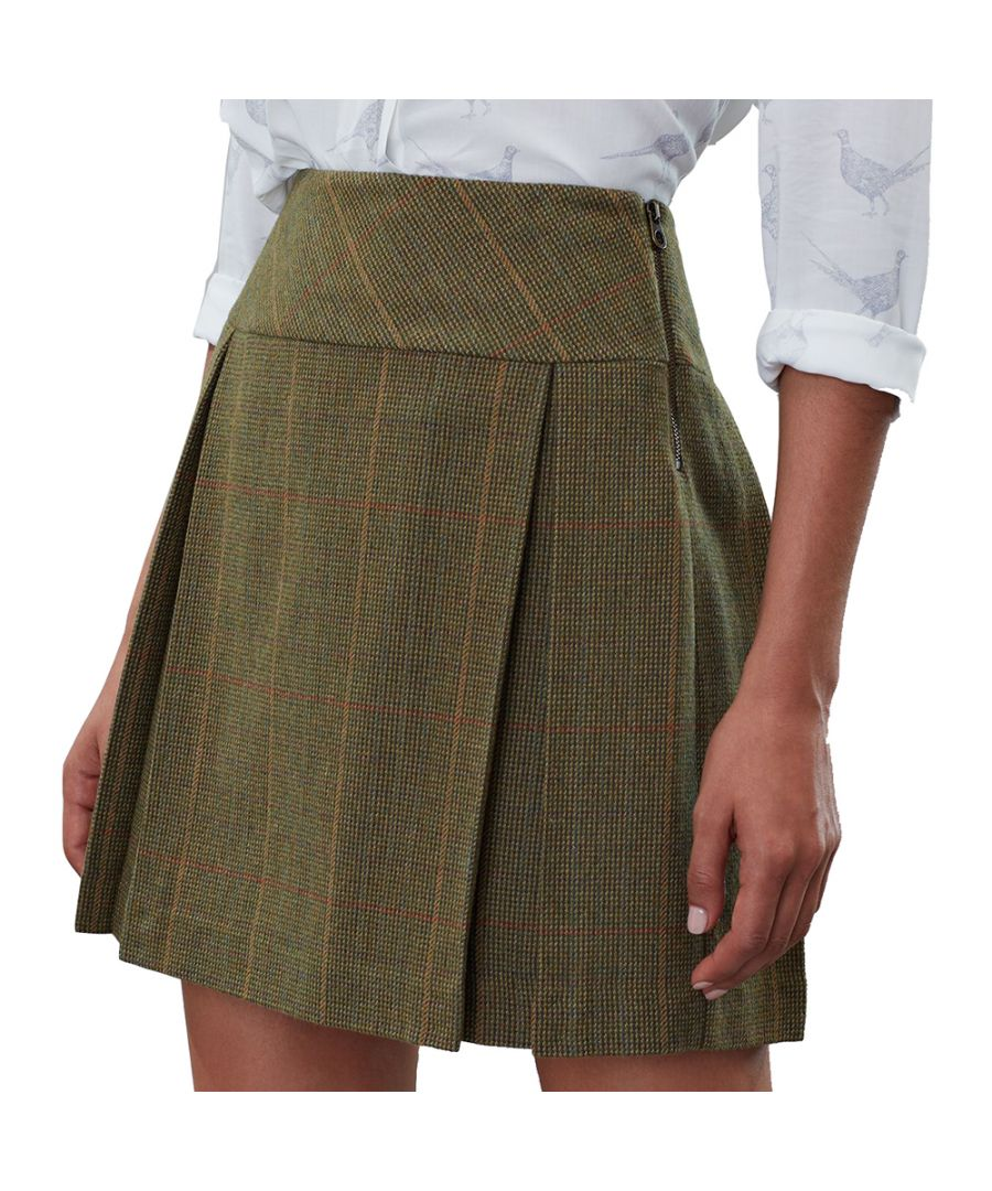 Image for Joules Womens Aggie Herritage Tweed A Line Pleated Skirt