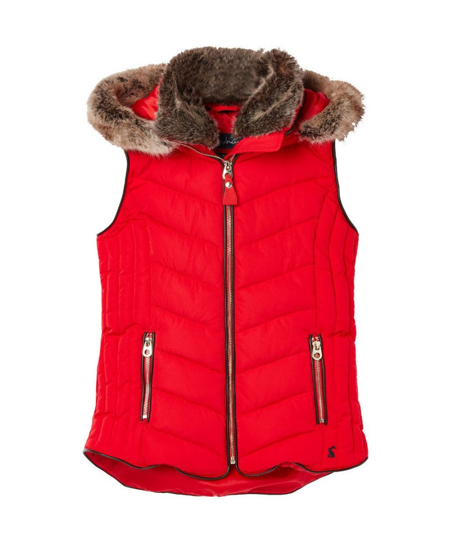 Image for Joules Girls Alanis Quilted Hooded Warm Gilet Body Warmer