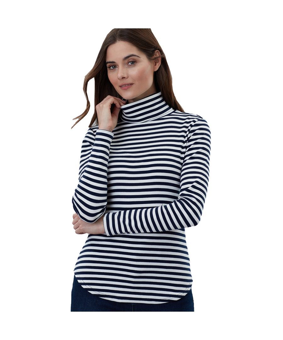 Image for Joules Womens Clarissa Roll Neck Contrast Jersey Jumper
