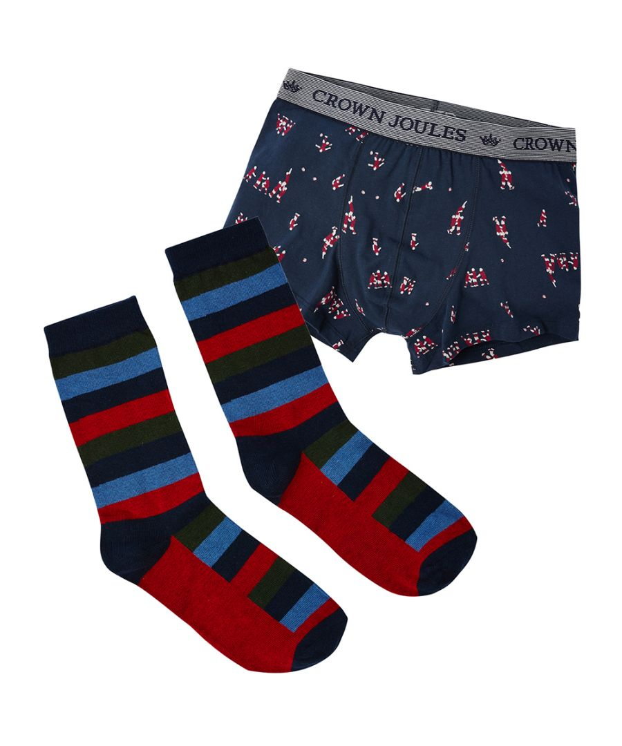 Image for Joules Mens Put A Sock In It 2 Piece Socks and Boxers Set