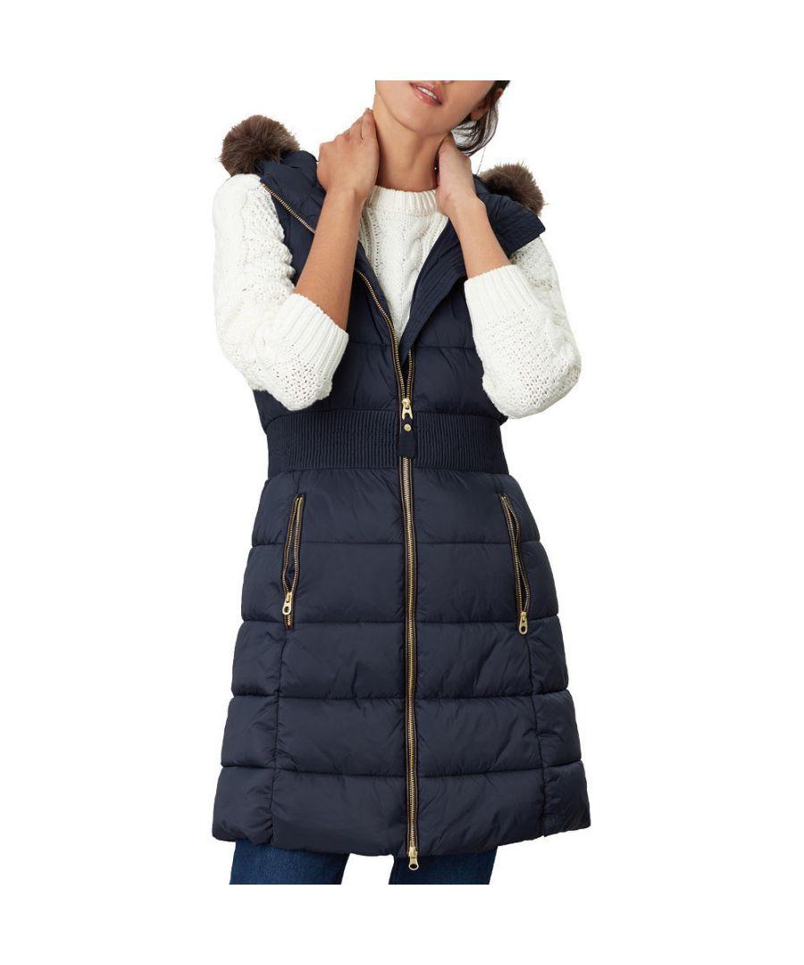Image for Joules Womens Avebury Long Length Padded Bodywarmer Gilet
