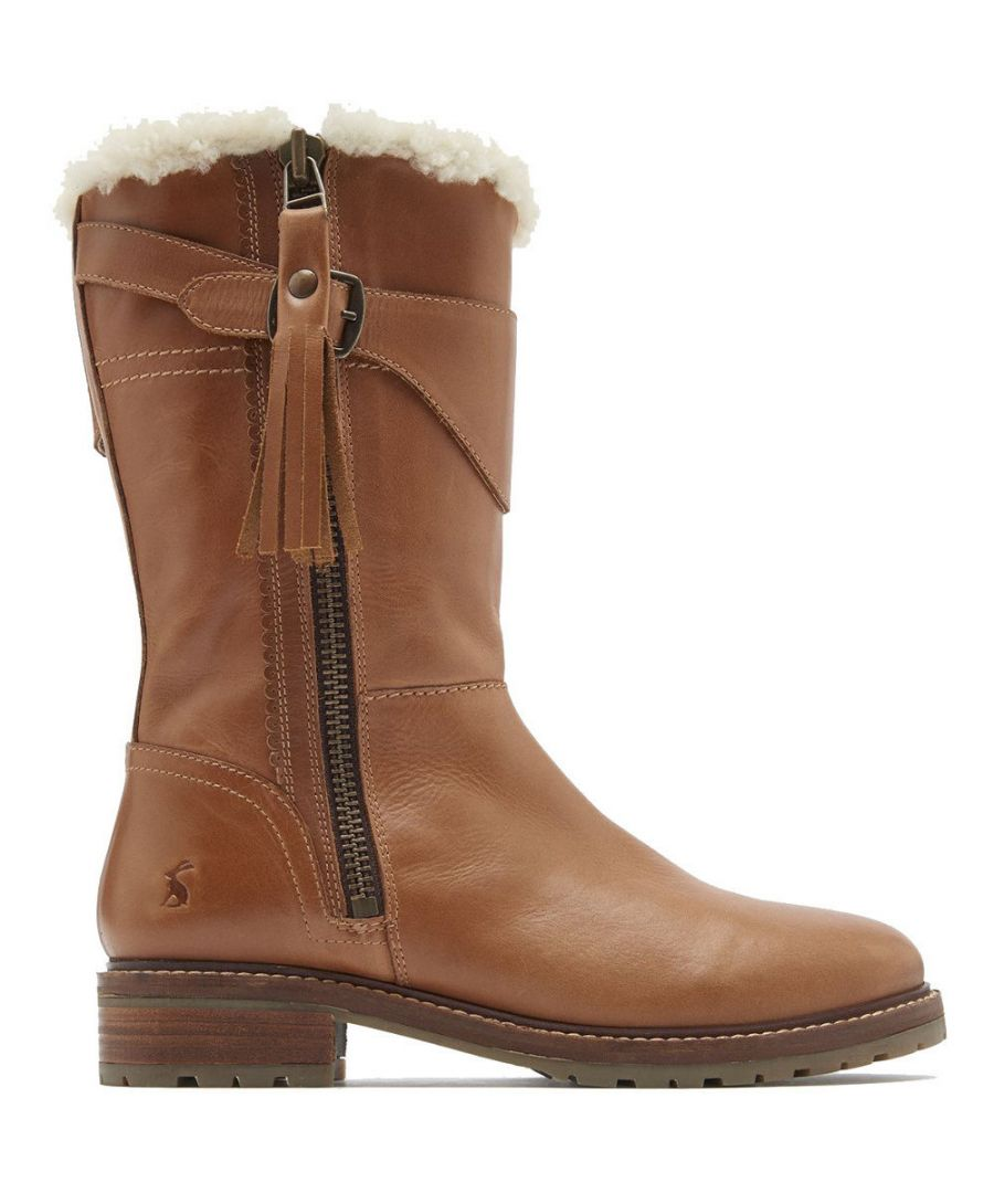 Image for Joules Womens Finchdale Part Lined Casual Zip Up Boots
